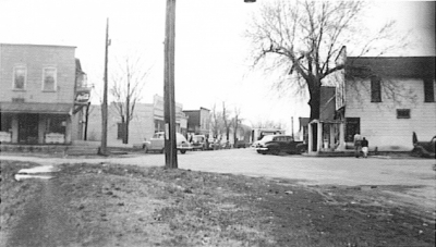 Downtown Tolono in 1947