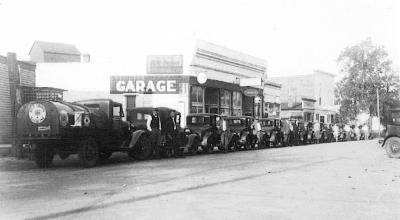 O.C. Harden and Pullianis Oil Struct on Main Street