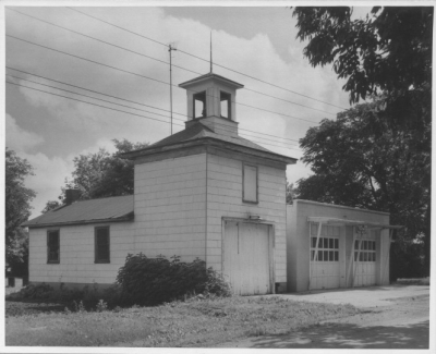 Tolono Fire Station Circa 1962. Located in 200 block of East Main. Picture is looking Southwest.